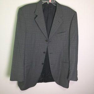 Canali Gray Super 120's Wool Blazer Size 42L